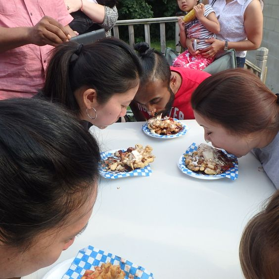 FCE Office BBQ - Funnel Cake Eating Competition 2015