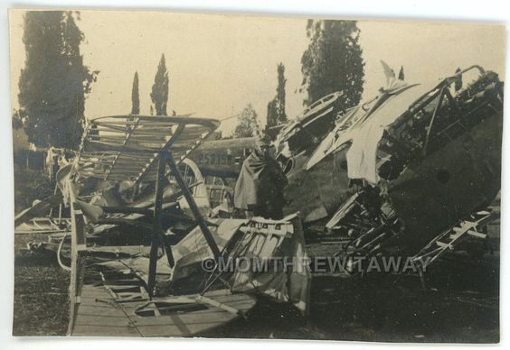 WWI PHOTO FRANCE Military 3 German Planes Shot Down by 1 French Soldier