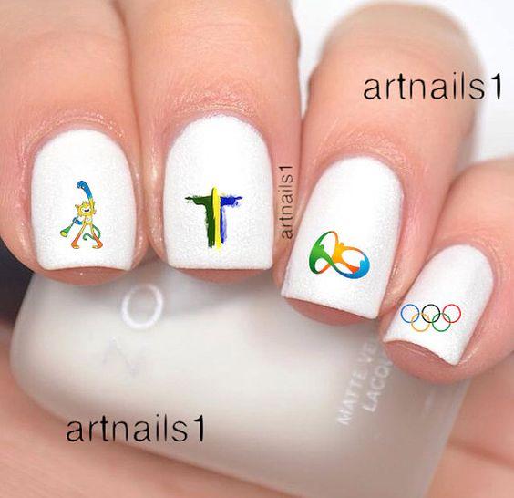 Olympics Rio Brazil 2016 Nail Art Nails Polish by artnails1: