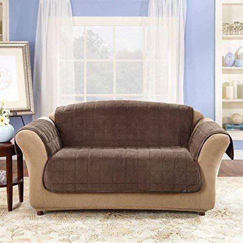 Surefit Loveseat Pet Furniture Cover Chocolate Brown Review Furniture Loveseat Love Seat Deluxe Sofas