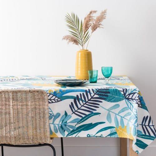 Nappe Enduite En Coton Motif Floral 150x250 Maisons Du Monde En 2020 Motif Floral Nappe Mobilier De Salon