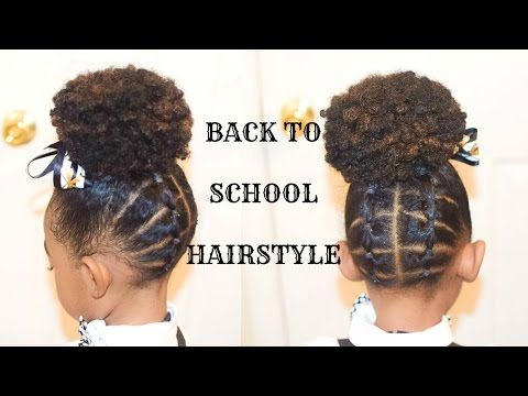 Back To School Hairstyles Vol 1 The Platted Up Do Youtube Natural Hairstyles For Kids Natural Hair Styles Easy Hair Styles