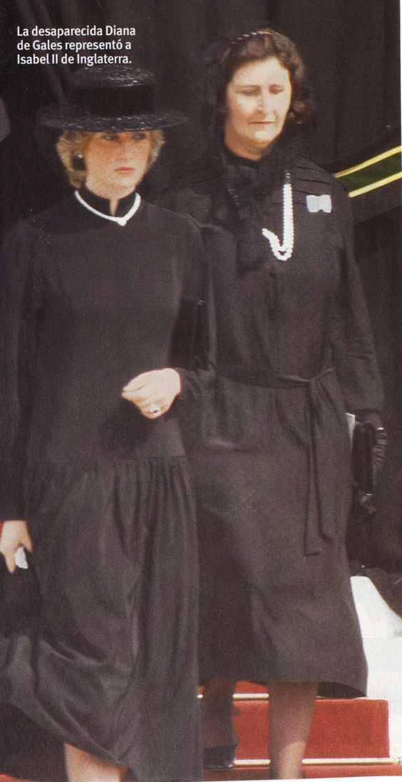 September 18, 1982: Princess Diana attends the funeral of Princess Grace on her first official engagement representing Queen Elizabeth.:
