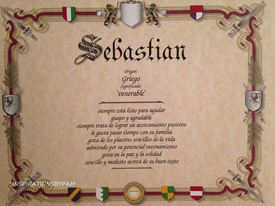 Sebastian first name meaning art print name meaning for Spanish house names suggestions