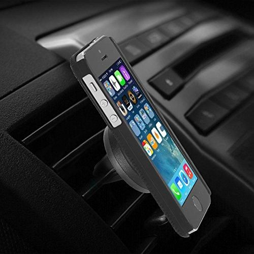 for Cell Phones and Mini Tablets with Fast Swift-Snap Technology, WizGear Magnetic Mount New Rectangle Design Universal Air Vent Magnetic Phone Holder for Car 2 Pack