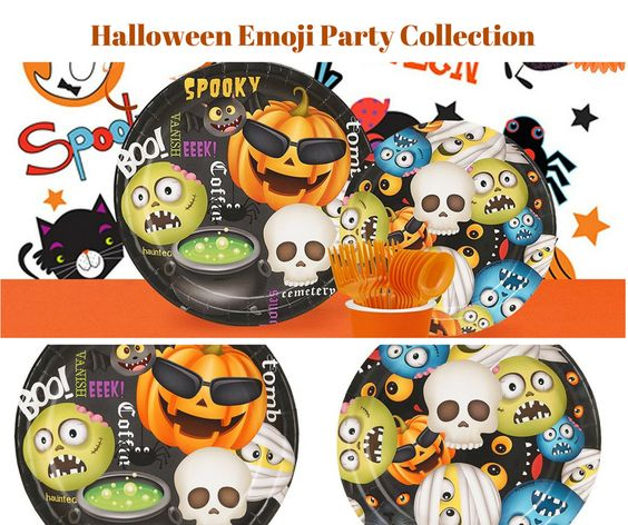 Halloween Emoji Party Banner