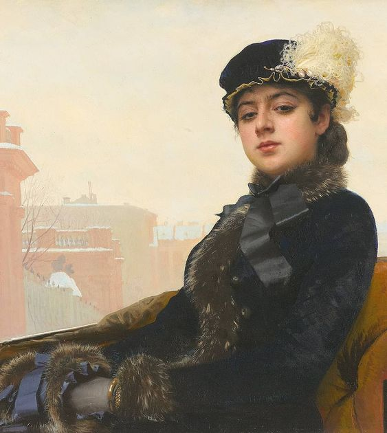 "Art History Gallery on Instagram: ""Ivan Kramskoi (1837 - 1887), Portrait of an Unknown Woman, 1883, Oil on canvas, 75,5 × 99 cm (29.7 in × 39 in), Tretyakov Gallery, Moscow,…"""