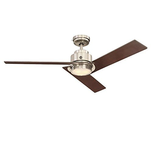 Ge Daelyn 54 Brushed Nickel Led Indoor Ceiling Fan With Https Www Amazon Com Dp B072n37c5m Ref Cm Sw R Pi Dp U X Ot1x Ceiling Fan Ceiling Fan With Remote