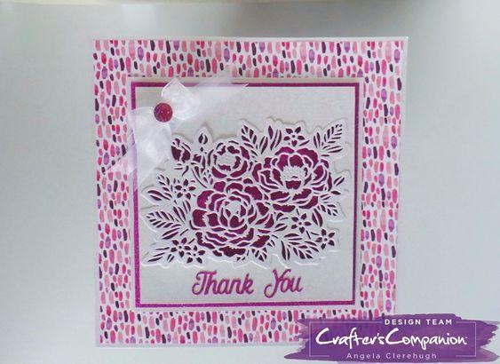 Crafting Metal Cutting Die On the Edge Filigree Flowers Card Making