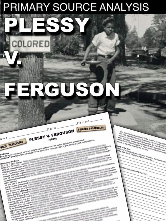 Essay question help please:explain the case of plessy v. ferguson.on what grounds did plessy sue?