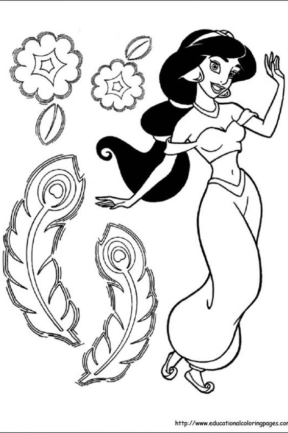 Jasmine | Educational Fun Kids Coloring Pages and Preschool Skills Worksheets