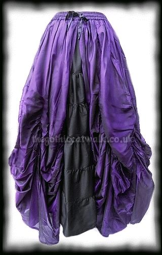 Purple & Black Gothic Fairytale Silk Skirt | Carmem | Pinterest ...