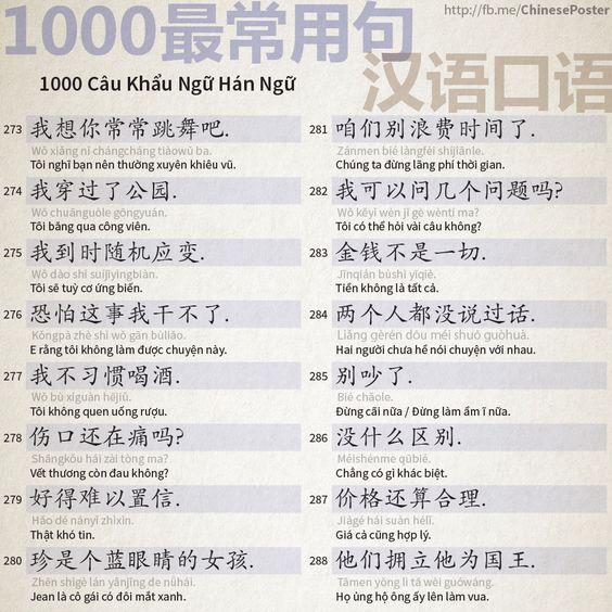 1000 Câu Khẩu Ngữ - Phần 18:
