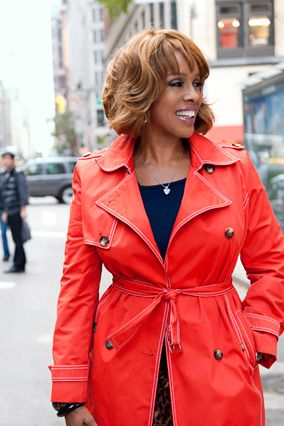 """Great article about Gaylein """"O Magazine""""! Love the red trency and the layered hair :)"""