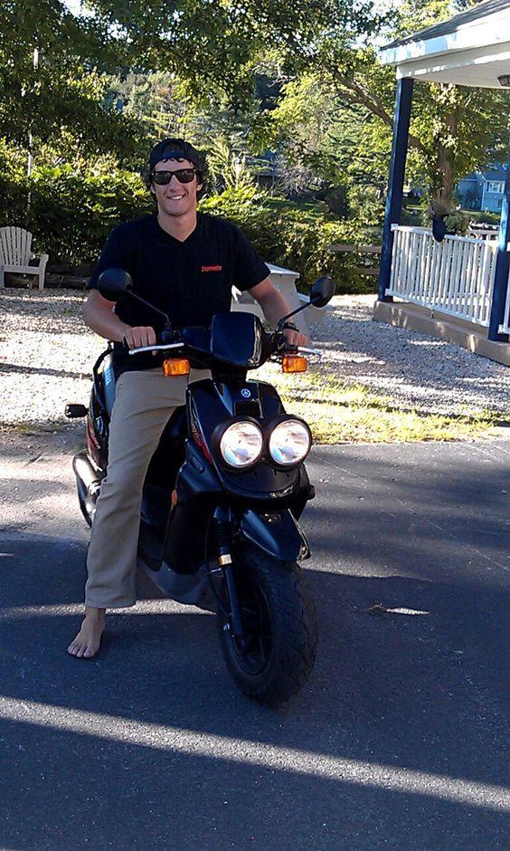 08' Yamaha Zuma   Polini clutch kit, Leo Vince exhaust, 71cc big bore, carbon fiber reeds, dual headlight mod