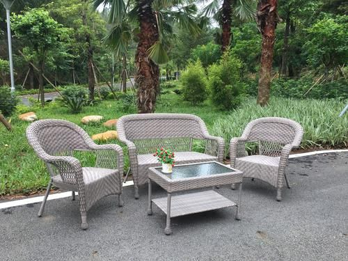 Backyard Creations Stratton Collection 4 Piece Wicker Seating