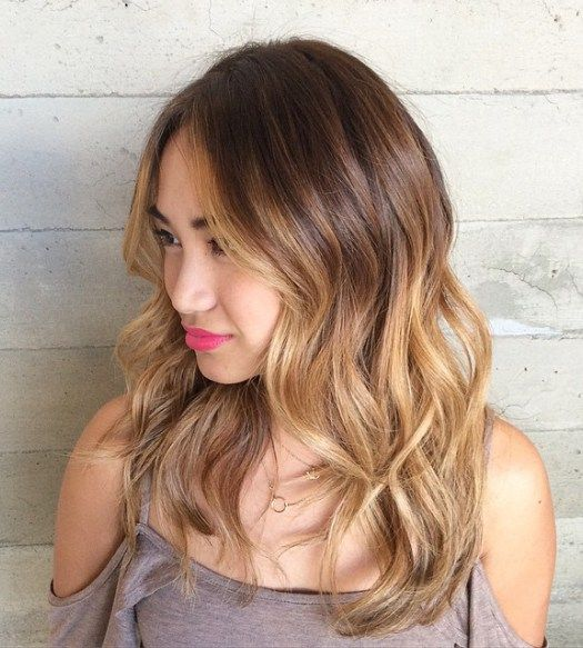 medium brown blonde ombre hair
