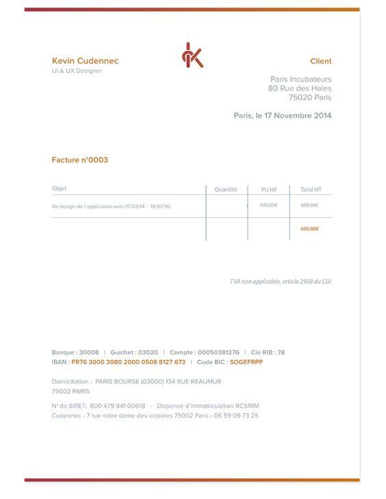 Invoice by Kevin Cdnc Invoice Design Pinterest Invoice design - how to design an invoice