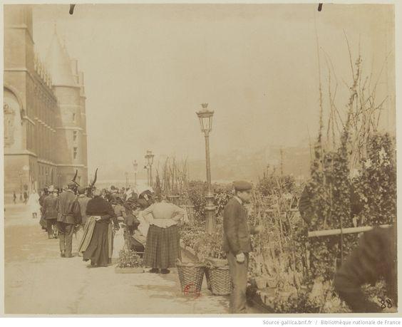 Marché aux fleurs : [photographie] / [Atget] 1898-1900