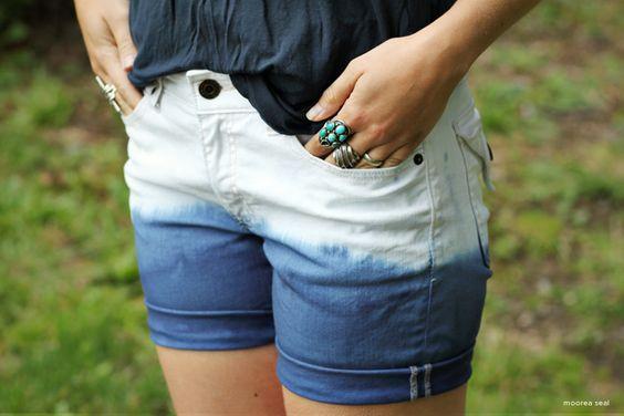 Dip Dye Tutorial!: Sorta Fashion, Style Diy, Shorts Style, Short Styles, Dip Dyed Hair, Dyed Shorts, Dip Dye Shorts