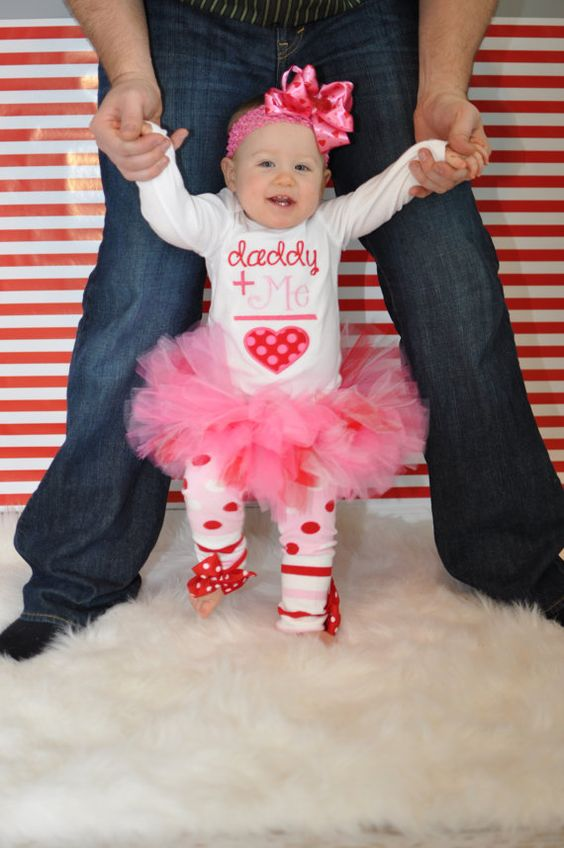 Baby Girl Valentine Tutu Outfit Daddys by DarlingLittleBowShop, $74.95 Too stinkin cute but too