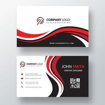 Download Wavy Red And Black Corporate Card For Free Business Card Design Black Business Card Mock Up Free Printable Business Cards