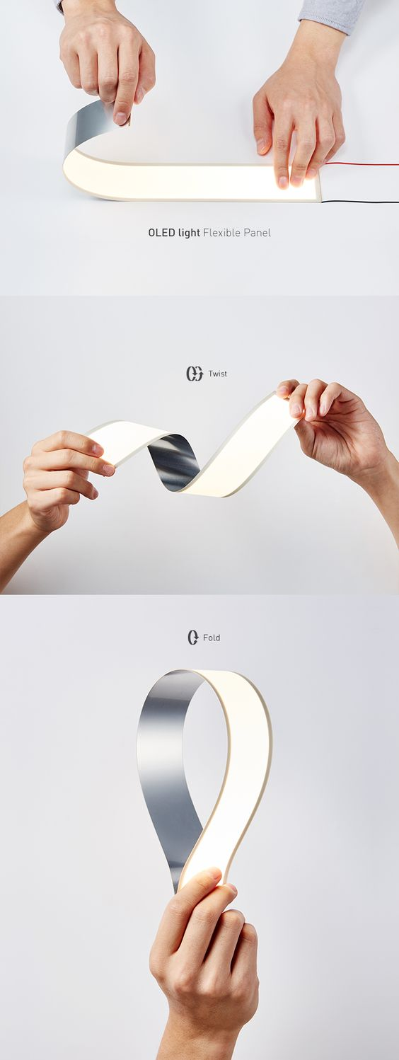 LG Display flexible OLED Module 200x50mm 2700K and 4000K - find out more: http://www.organic-lights.com/en/lg-display-oled-modul-200x50mm-flexible.html