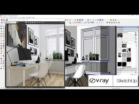 Sketchup For Vray 3 Tutorial Render Interior Part 7 Visual