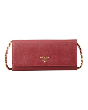 prada wallet on chain red