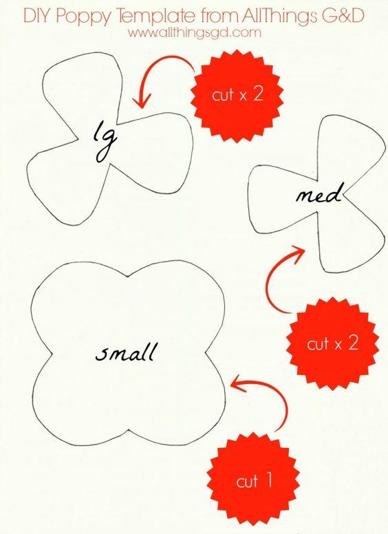 DIY Poppy Template from All Things G&D | www.allthingsgd.com