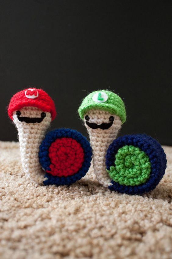 PDF of Super Snail Bros Amigurumi Pattern | PlayStation, Patrones y ...