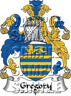 Gregory Family Crest apparel, Gregory Coat of Arms gifts