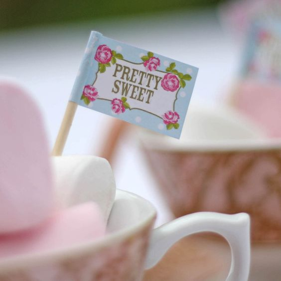 english tea party food flags - these are great to add to wedding cupcakes available from www.theweddingofmydreams.co.uk #weddingcake #weddingcaketoppers @The Wedding of my Dreams