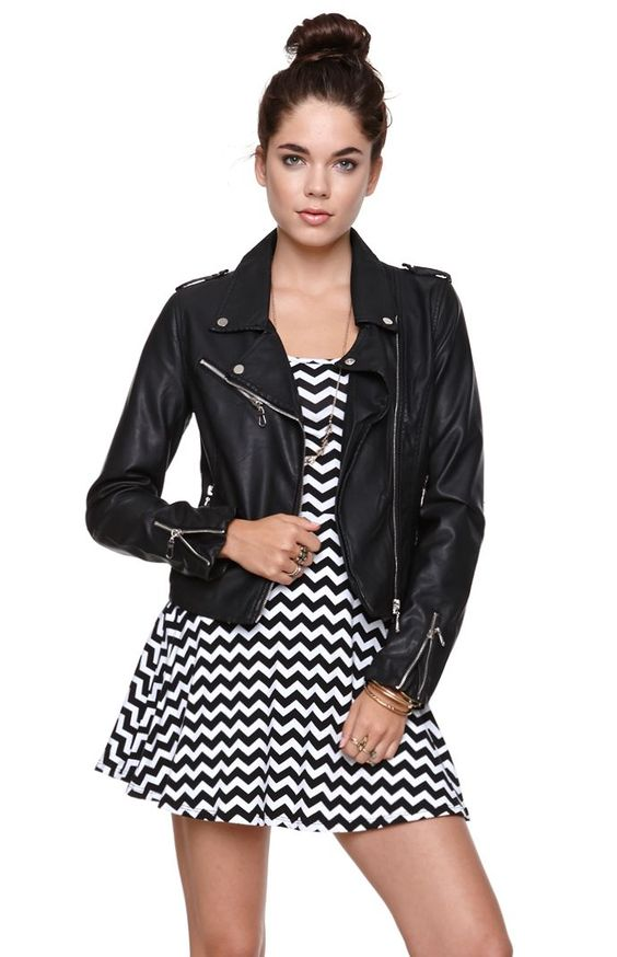 Womens Lira Jacket - Lira Faux Leather Moto Jacket by: Lira | Rock ...