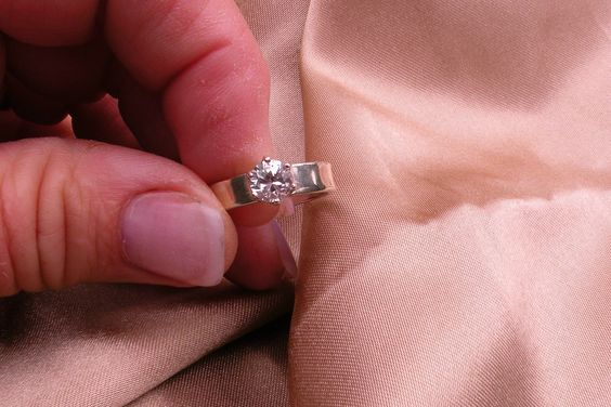 Reserved for Ashlee White Sapphire Solitaire by Candiesthings, $90.00