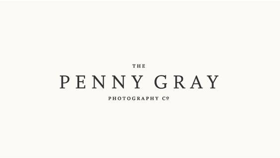 The Penny Gray Photography Co logo by Amanda Jane Jones