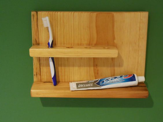 Wall Mount Shelves And Toothbrush Holders On Pinterest