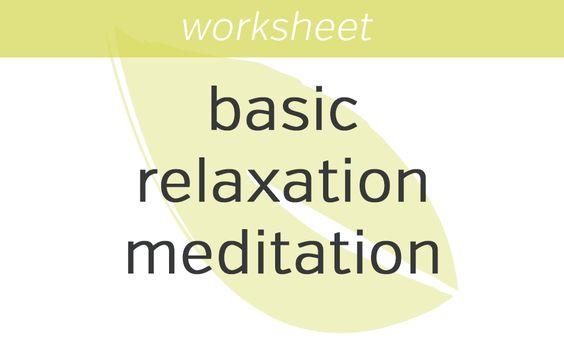Basic Relaxation Meditation | Mindfulness Exercises
