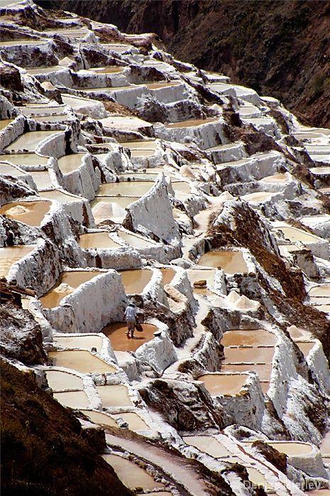 Peru Travel Inspiration - (Salinas de Maras, Cusco, Peru) Mining Salt in Peru   © Denise Bierley