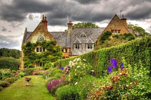 English Country Home  & Flower Garden