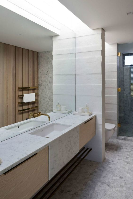Big Bathroom Mirror Trend in Real Interiors Interiors, Trends and