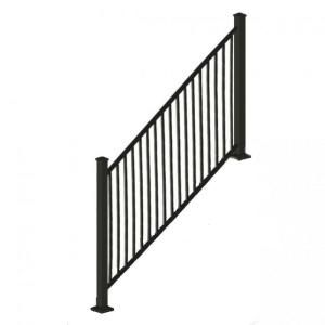 Best 268 8 Rdi 8 Ft X 34 In Black Square Baluster Stair Rail 400 x 300