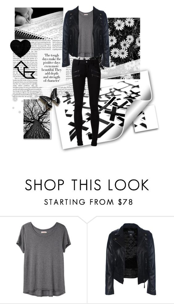 """""""Positive is beautiful"""" by daysgobyeclothes ❤ liked on Polyvore featuring UNIF, Organic by John Patrick and Paige Denim"""