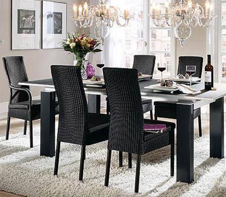 Sala comedor decoraci n con muebles de rattan que han for Comedor 2 colores