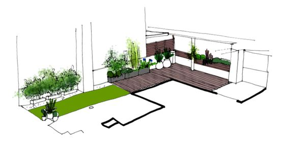 Jardin en terraza dise o de la habitaci n verde - Disenos de terrazas ...