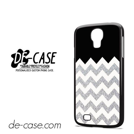 Silver Glitter Chevron DEAL-9592 Samsung Phonecase Cover For Samsung Galaxy S4 / S4 Mini
