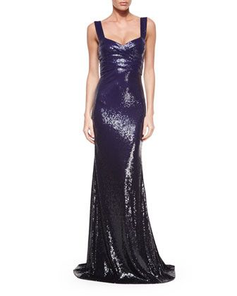 Sleeveless Ombre-Sequin Gown, Dark Purple by Donna Karan at Neiman Marcus.