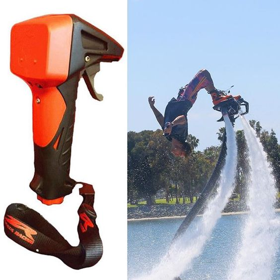 Have the power in your hands! This is an awesome device for hydroflight product owners. We recommend you be very experienced on the throttle before attempting. Too much power or dropping yourself sucks! #flyboard #flyboarding #hoverboard #hoverboarding #jetpack #watersports #fly #jetski #emk #controlled #pwc #yamaha #kawasaki
