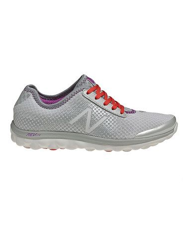 Take a look at this Gray & Raspberry W895 Running Shoe - Women by New Balance on #zulily today!