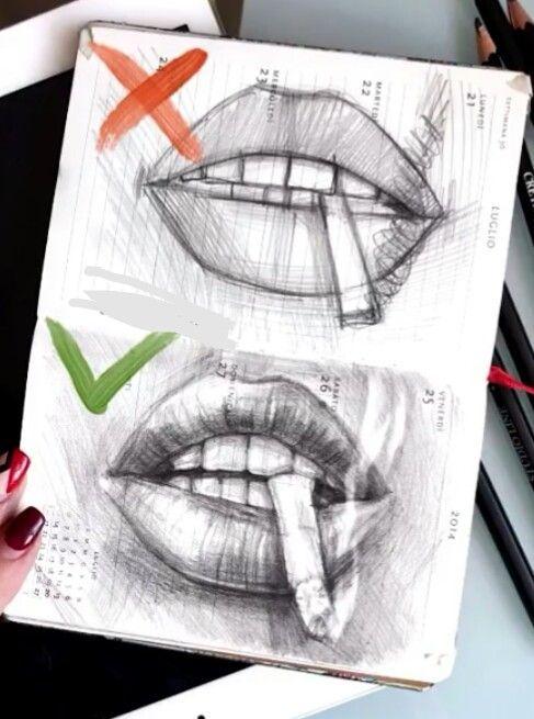 Clique No Pin Para Aprender Tags Desenhos Boca Realista